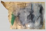 beim abendbrot, kohle/papier/tempera/kreide, Zeichnung, gegenständliches Bild