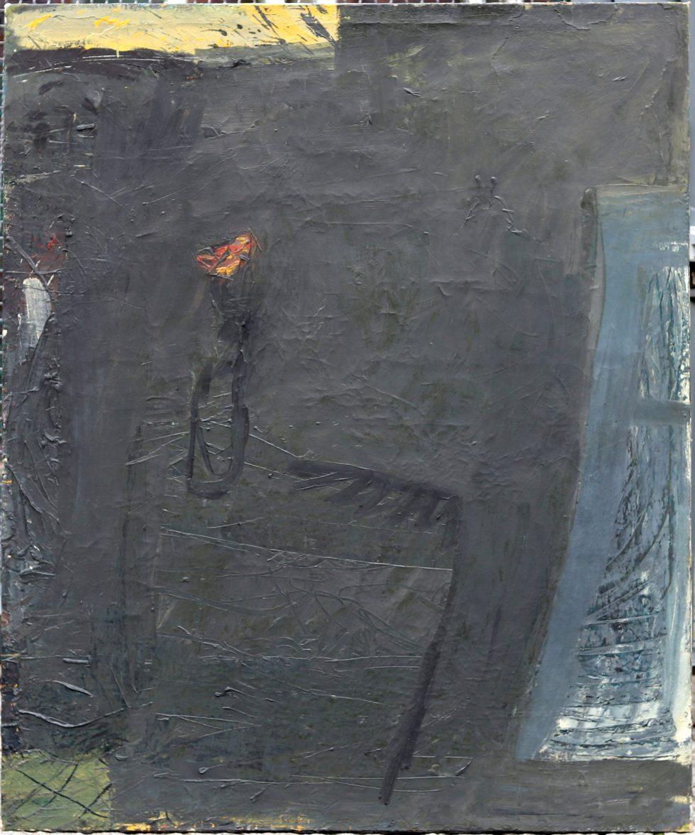 blumen-drehbild, Eitempera/Nessel, wahrscheinlich so 130 x 170 cm, Eitempera-Malerei, gegenständliche Malerei
