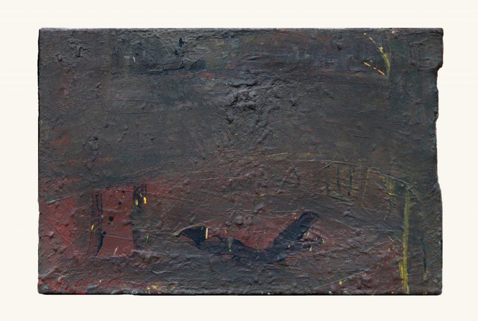 kleiner Fisch, Eitempera/Rupfen auf irgendeinem ollen Rahmen, 60x90 cm, Eitempera-Malerei, gegenständliche Malerei, out of the box, vor 20 jahren