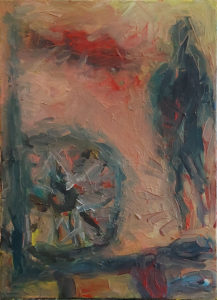 Feierabend, Eitempera/Leinwand, 70 x 50 cm, gegenständliche Malerei, dezember 2020, neueste bilder