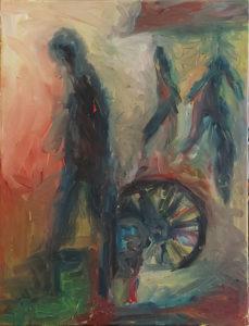 Feierabend, Eitempera/Leinwand, 80 x 60cm, gegenständliche Malerei, dezember 2020, neueste bilder,