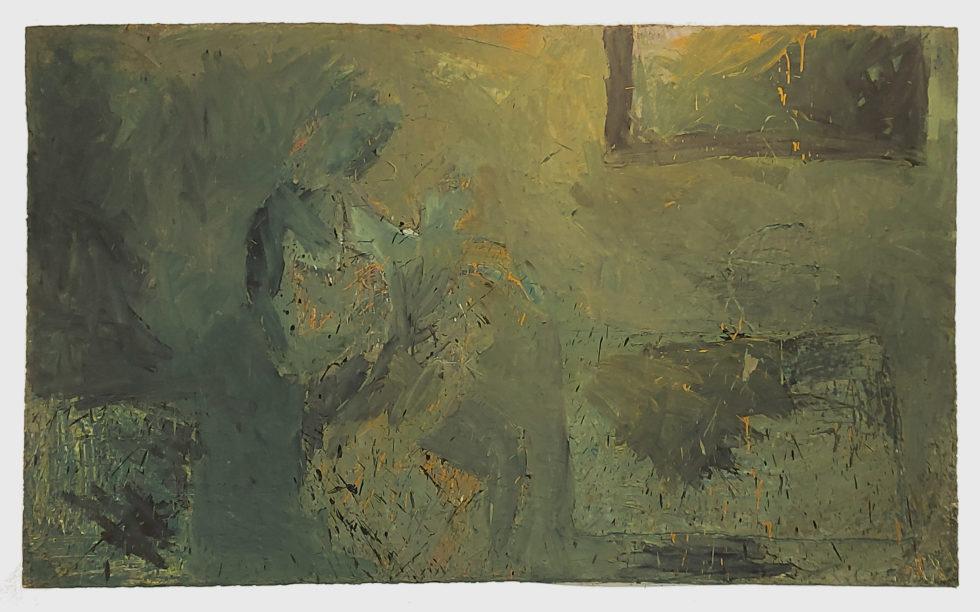 Mutter und Kind, Gegenständliche Malerei, Eitempera auf Nessel, 150x230cm